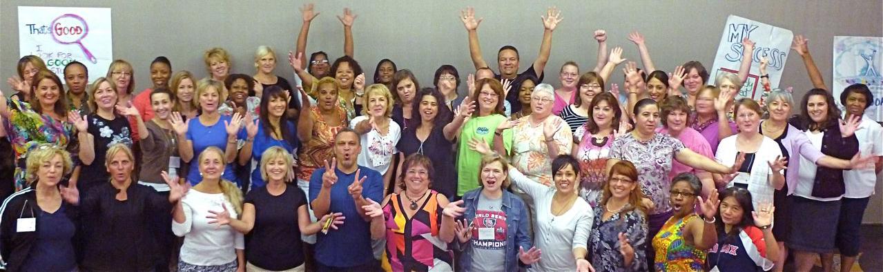Teachers from Jensen Learning Teacher workshops
